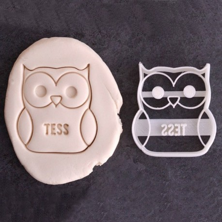 Custom Owl cookie cutter with name - Personalized