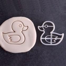 Rubber duck cookie cutter