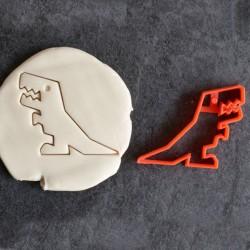 Pixel dinosaur cookie cutter