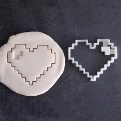 Emporte-pièce coeur en pixel