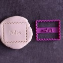 Petit Beurre Custom cookie cutter with name - Personalized
