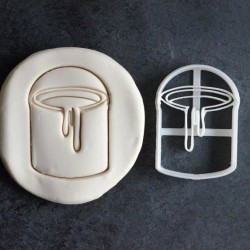 Paint Bucket cookie cutter