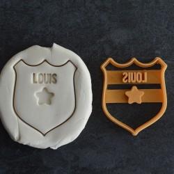 Emporte-pièce Badge de Police avec prénom (Personnalisable)