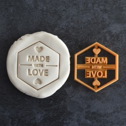 Made With Love cookie cutter