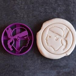 Maure's head cookie cutter - Corsica cookie cutter
