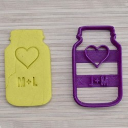 Custom Cookie Jar cookie cutter - Personalized