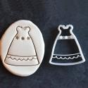 Baptism dress - Dress cookie cutter