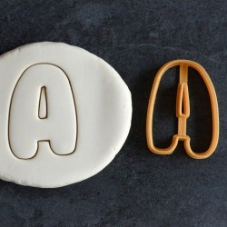 Aplhabet cookie cutter