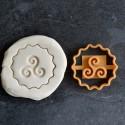 Triskel cookie cutter
