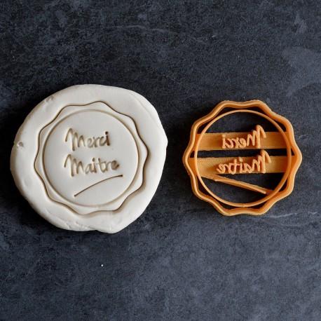 """""""Merci Maitre"""" cookie cutter - Teacher's Day"""