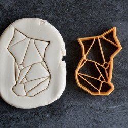 Fox Origami cookie cutter