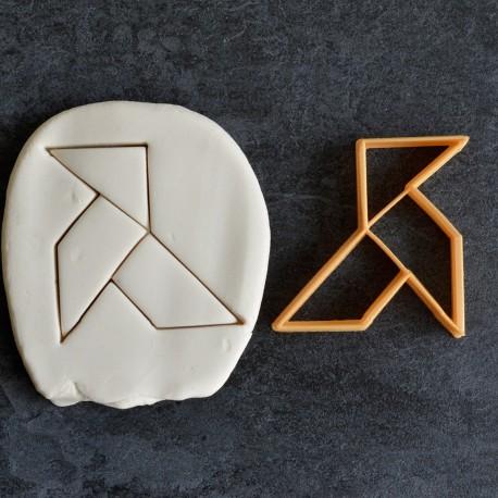 Paper Bird Origami cookie cutter