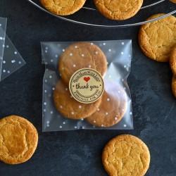 Sachets pour biscuits et confiserie - Givré à pois blanc