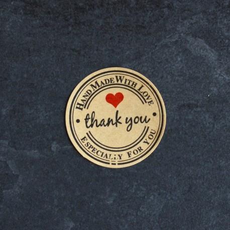 Autocollants pour Sachets pour biscuits et confiserie - Thank You