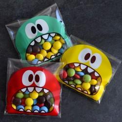 Sachets pour biscuits et confiserie - Monstre Glouton