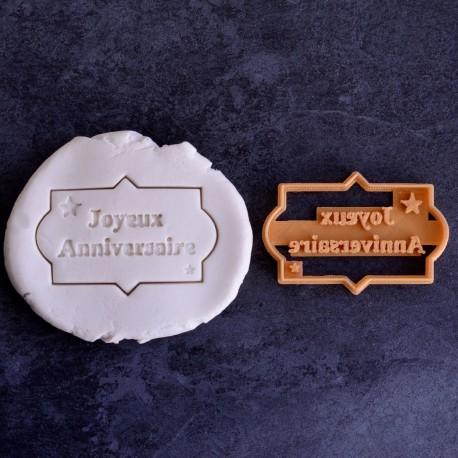 Joyeux Anniversaire cookie cutter