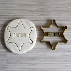 Custom Sheriff Star cookie cutter - Personalized