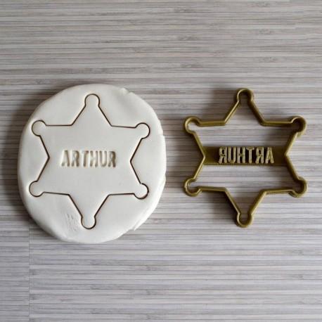 Custom sheriff star - Personalized