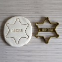 Emporte-pièce en forme d'étoile de shérif (Personnalisable)