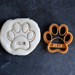Dog Paw cookie cutter (customisable)