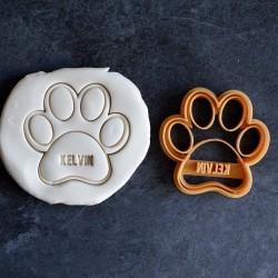 Emporte-pièce en forme de patte de chien (personnalisable)