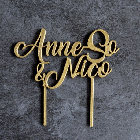 Custom Cake Topper - Bronze
