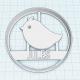 Emporte-pièce Personnalisable Oiseau