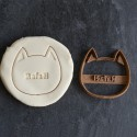 Cat name custom cookie cutter - Personalized - Birthday, Wedding